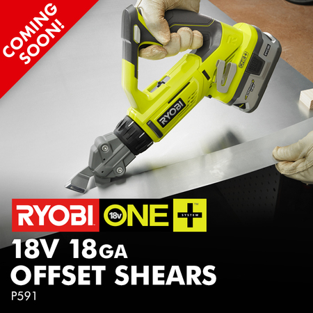 ONE+ 18-Volt 18 Gauge Offset Shears